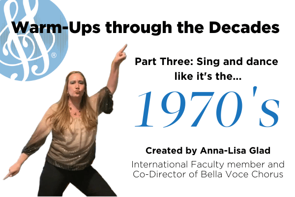 "Warm-Ups through the decades part three ""1970s"" with Anna-Lisa Glad"