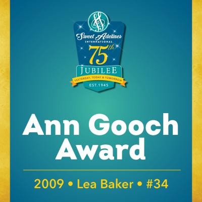 In recognition of...Lea Baker (#34), 2009 recipient of the Ann Gooch Award