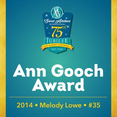 In recognition of...Melody Lowe (#35), 2014 recipient of the Ann Gooch Award.