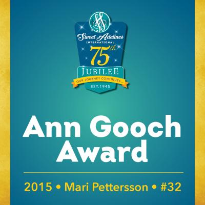 In recognition of...Mari Pettersson (#32), 2015 recipient of the Ann Gooch Award