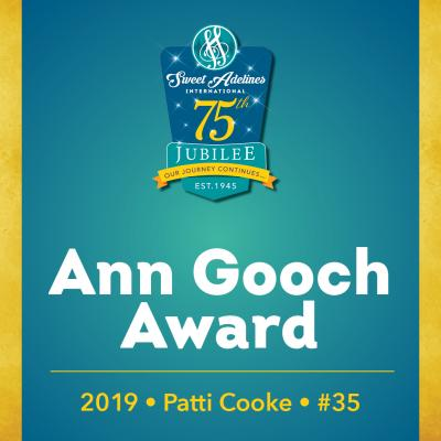 In recognition of...Patti Cooke (#35), 2019 recipient of the Ann Gooch Award