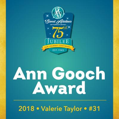 In recognition of...Valerie Taylor (#31), 2018 recipient of the Ann Gooch Award