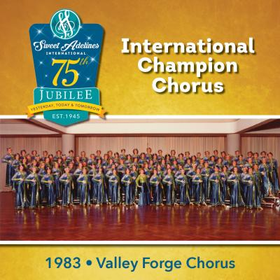 Valley Forge Chorus, 1983 Champions