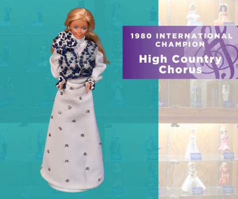 1980 Sweet Adelines International Champion Doll, High Country Chorus