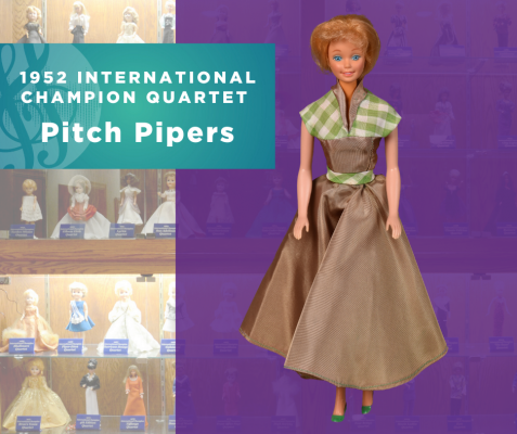 1952 Sweet Adelines International Champion Quartet Doll, Pitch Pipers!