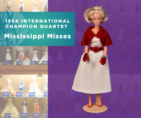 1954 Sweet Adelines International Champion Quartet Doll, Mississippi Misses