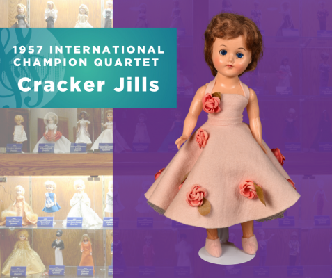 1957 Sweet Adelines International Champion Quartet Doll, Cracker Jills