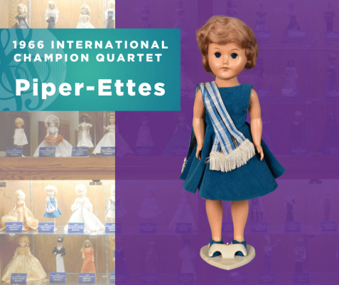 Representing...The 1966 Sweet Adelines International Champion Quartet, Piper-Ettes!