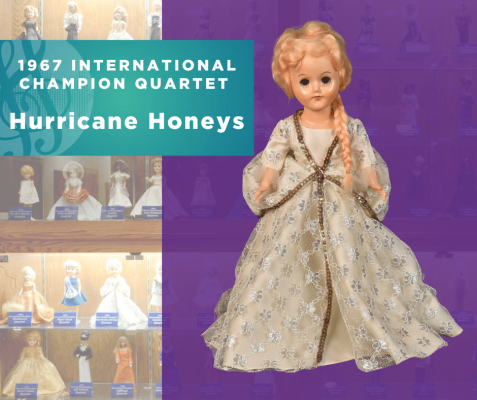 1967 Sweet Adelines International Champion Quartet Doll, Hurricane Honeys!