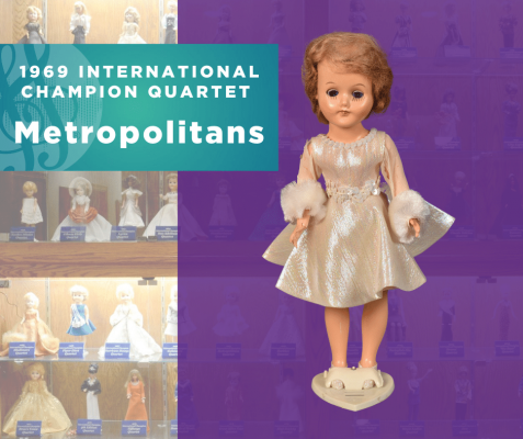 1969 Sweet Adelines International Champion Quartet Doll, Metropolitans!
