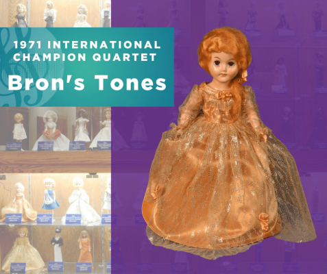1971 Sweet Adelines International Champion Quartet doll, Bron's Tones