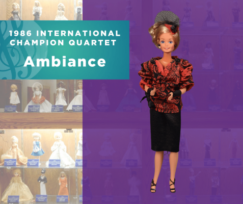 Representing...The 1986 Sweet Adelines International Champion Quartet, Ambiance!