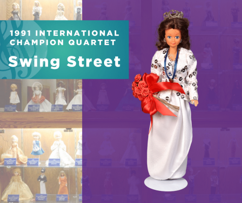 Representing...The 1991 Sweet Adelines International Champion Quartet, Swing Street!