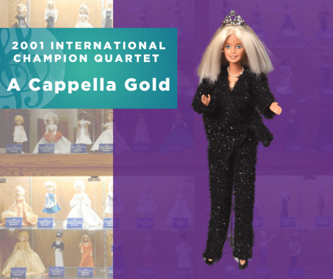 Representing...The 2001 Sweet Adelines International Champion Quartet, A Cappella Gold!