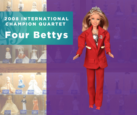 Representing...The 2008 Sweet Adelines International Champion Quartet, Four Bettys!