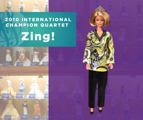 Representing...The 2010 Sweet Adelines International Champion Quartet, Zing!