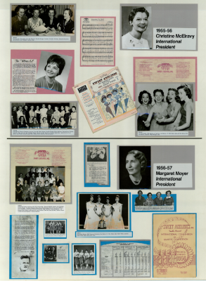 Sweet Adelines History Panel 1955-56 and 1956-57