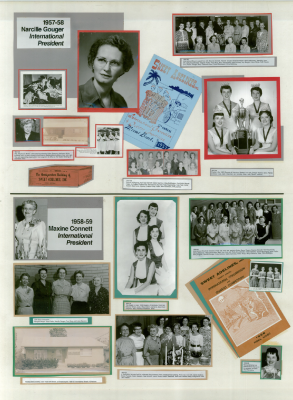 Sweet Adelines History Panel 1957-58 and 1958-59