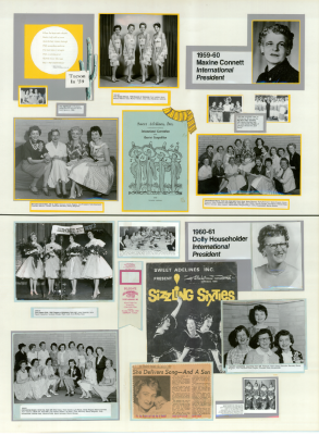 Sweet Adelines History Panel 1959-60 and 1960-61