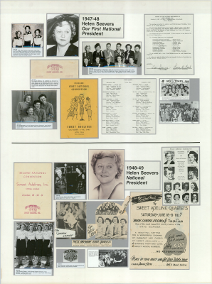 Sweet Adelines History Panel 1947-1948 and 1948-1949