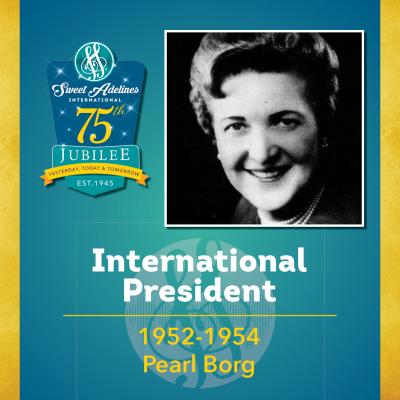 Sweet Adelines Past International President 1952-1954 Pearl Borg