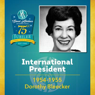 Sweet Adelines Past International President 1954-1955 Dorothy Bleecker