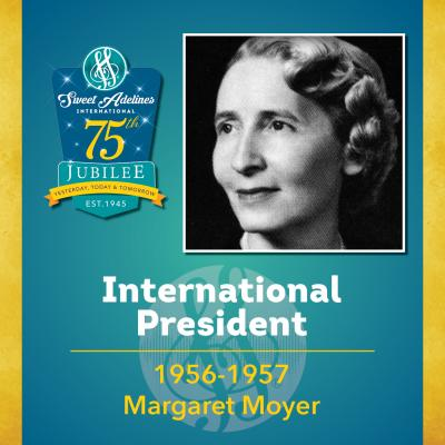 Sweet Adelines Past International President 1956-57 Margaret Moyer