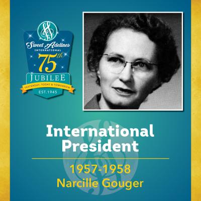 Sweet Adelines Past International President 1957-1958 Narcille Couger