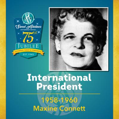 Sweet Adelines Past International President 1958-60 Maxine Connett