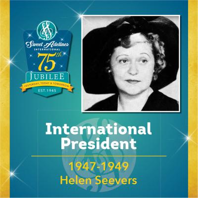 Sweet Adelines Past International President 1947-1949 Helen Seevers
