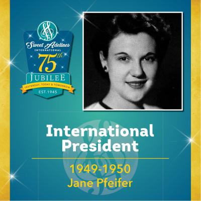 Sweet Adelines Past International President 1949-1950 Jane Pfeifer