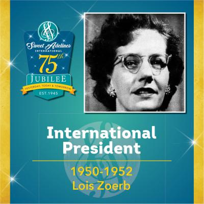 Sweet Adelines Past International President 1950-1952 Lois Zoerb
