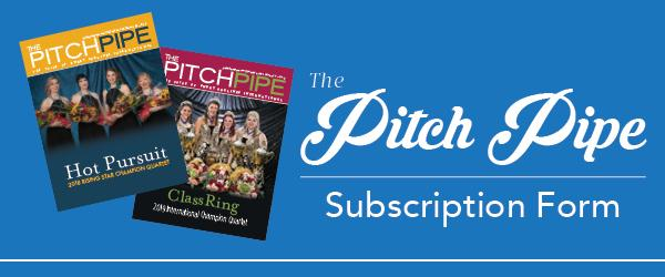 The Pitch Pipe Subscription Form